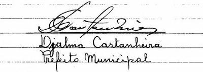ASSINATURA DO PREFEITO DJALMA CASTANHEIRA